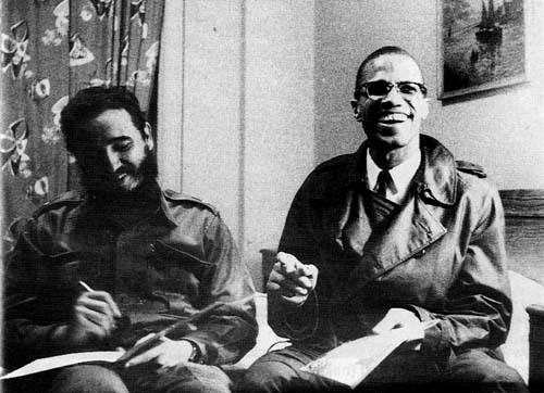 Fidel Castro & Malcom X, à l'hotel Teresa (Harlem, 1960)