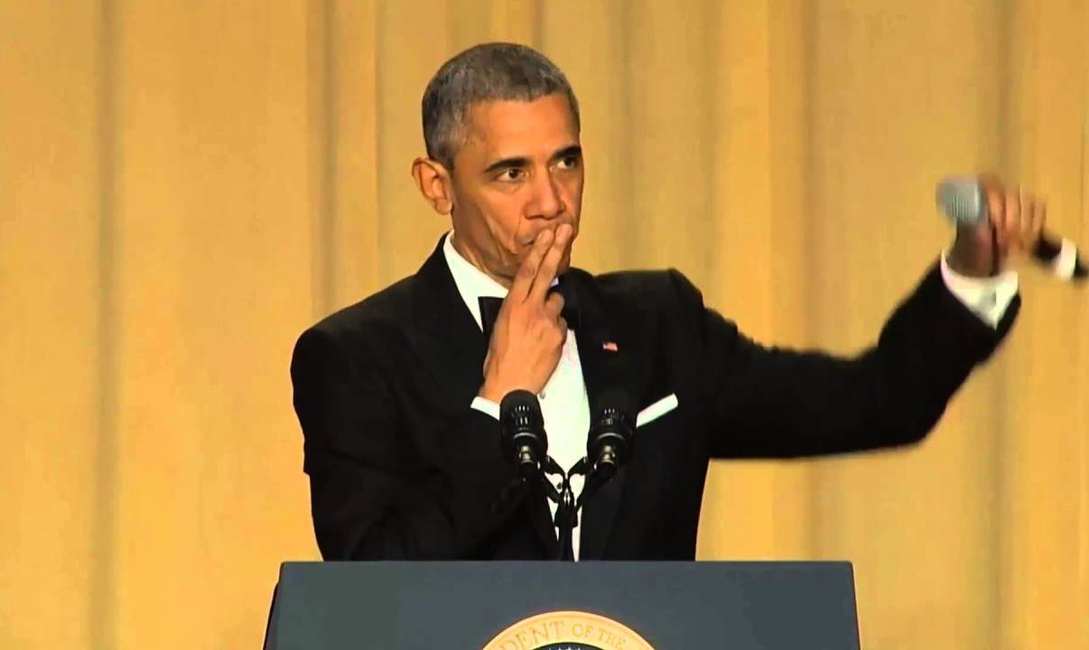 MC Obama drops the White House's microphone