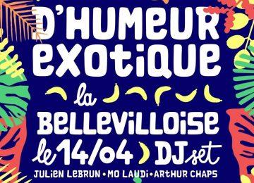D'humeur Exotique investit La Bellevilloise pour une soirée 100% tropicale