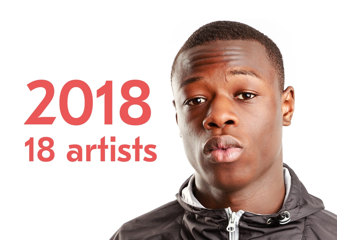 18 Artists to Follow in 2018