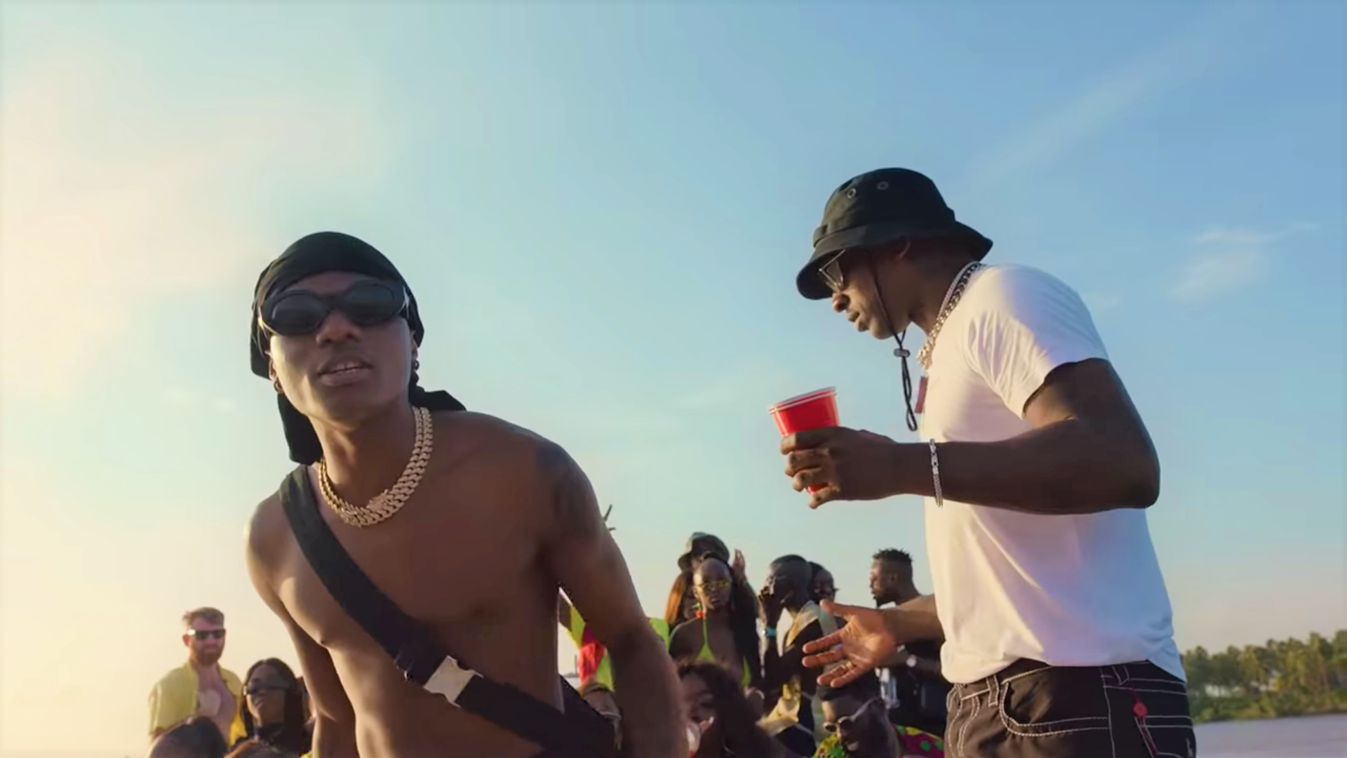 Skepta and Wizkid shoot music video in Nigeria