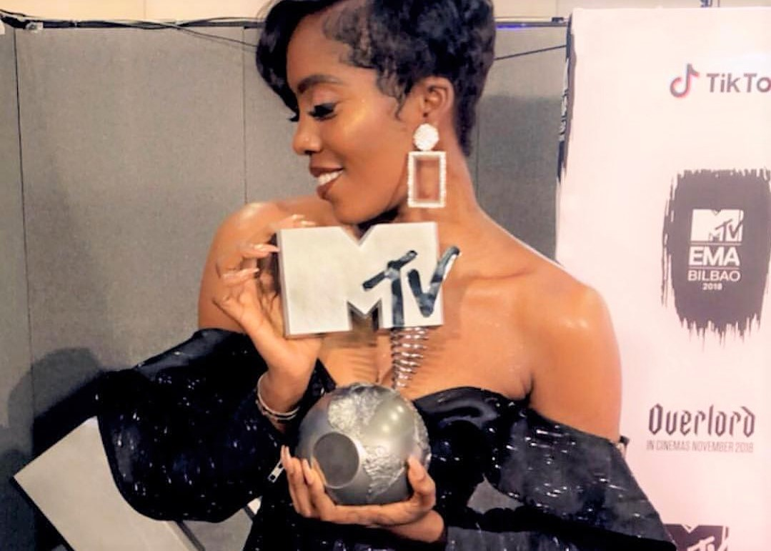 Tiwa Savage wins 'Best African Act' at the 2018 MTV EMAs