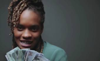 Koffee and Gunna make it rain in the apocalyptic music video 'W'