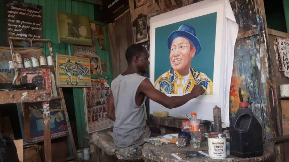 PAM Gallery : Babs, le peintre des rues de Kumasi